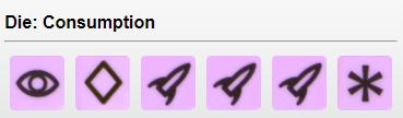 Consumption (Purple) - 1 Explore, 1 Develop, 3 Ship, 1 Wild