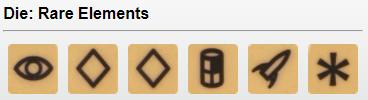 Rare Element (Brown) - 1 Explore, 2 Develop, 1 Produce, 1 Ship, 1 Wild